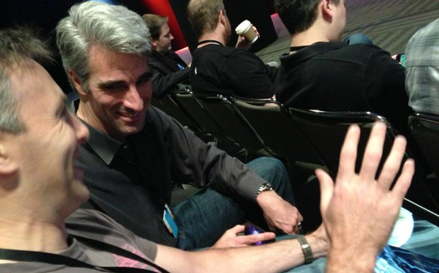 Chris Harris and Craig Federighi. Wonders App.
